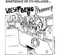 Raketschild op z'n Hollands