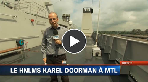 Karel Doorman in Canada