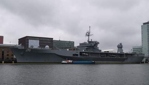 USS Mount Whitney in Amsterdam